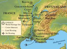 Provence France Map by Usf Alumni Springtime In Provence And Burgandy River Cruise