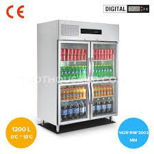 1425mm four half glass door commercial reach in refrigerator tt bc365i