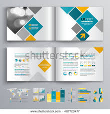cover layout com white business brochure template design blue stock vector 487723477