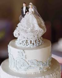 wedding cakes ideas vintage wedding cake topper bride and groom