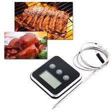 sonde thermometre cuisine professional lcd digital barbecue bbq cooking thermometer timer