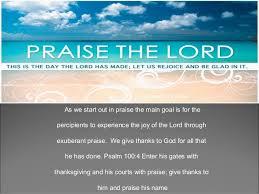 praise worship encounter