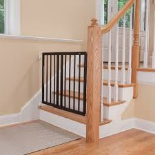 Staircase Laminate Flooring Top Of Stairs Décor Swing Gate Espresso Gates