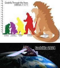 Godzilla Meme - godzilla through the years by elvoterias meme center