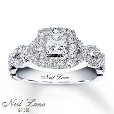 inexpensive engagement rings neil lane engagement ring 1 ct tw diamonds 14k white gold neil