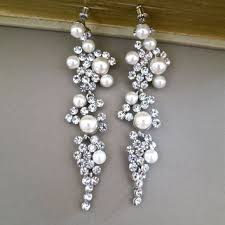 bridal chandelier earrings best ivory pearl wedding earrings products on wanelo