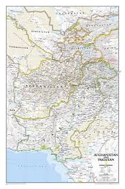 National Geographic Map Buy Afghanistan And Pakistan Tubed By National Geographic Maps