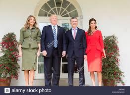 first lady melania trump and juliana awada wife of president