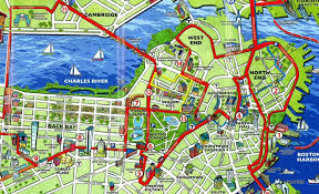 Boston Map by Boston Mapvandam Boston Streetsmart Map City Street Maps