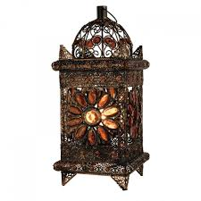 lighting ideas electric lantern table lamp with wooden pattern
