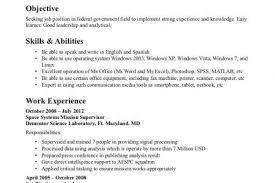 federal resumes samples federal resume sample and format the