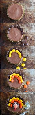 turkey cupcakes made with reese s pieces and hershey kisses your
