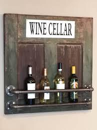 reclaimed barn door and pipe wine rack reclaimed wood wine