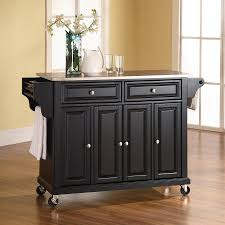 crosley furniture kitchen island shop crosley furniture black craftsman kitchen island at lowes com