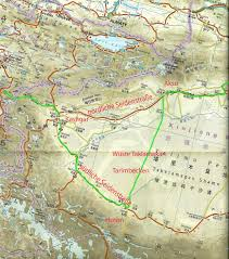 Karakorum On Map Chinas Westen Knoxl U0027s Reise Weblog