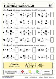 maths worksheet adding fractions subtracting fractions and