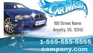 Car Name Card Design Customizable Design Templates For Car Wash Business Card Template