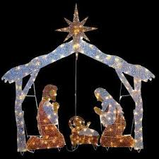 Christmas Yard Decorations Nativity by National Tree Company Outdoor Christmas Decorations Christmas