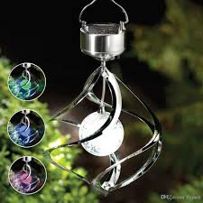 wind spinners with led lights discount solar powered color changing wind spinner led light hang