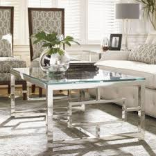 chrome glass end tables mid century chrome and glass coffee table with circular design