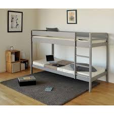 chambre lit superposé brice lit superposé enfant contemporain en bois épicéa gris taupe