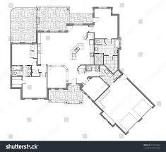 large bungalow floor plan stock illustration 110239154 shutterstock
