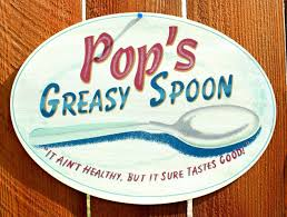 pops greasy spoon tin sign country kitchen home farm home ad diner