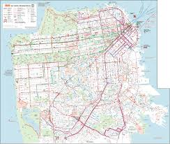 San Francisco Ca Map by San Francisco Muni System Map San Francisco Ca U2022 Mappery