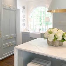 light blue kitchen walls cabinets paint colors in timeless blue and white kitchen hello lovely