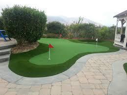 putting green pavers sand trap combination backyard putting