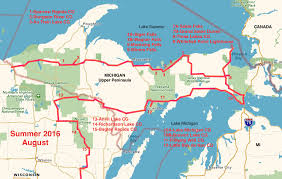 Michigan Lighthouse Map by Summer 2016 Plein Air Journey
