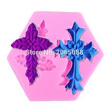 Decoration Fondant Cake Aliexpress Com Buy M225 Two Crosses Shaped Silicone Mold Cake