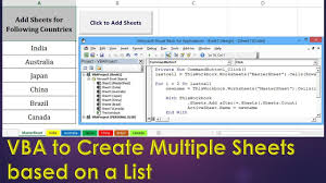 vba to create new sheets based on a list excel vba example by