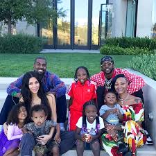 kid s kim kardashian kanye west enjoy bbq with north and saint