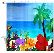 mary gifts by the beach tropical beach shower curtain u0026 reviews