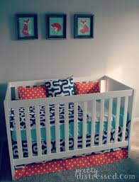 pretty distressed gender neutral nursery on a budget reveal