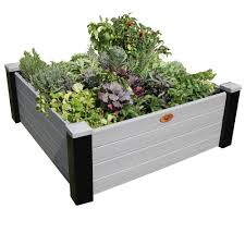 Raised Garden Bed On Concrete Patio Elevated Bed Raised Garden Beds Garden Center The Home Depot