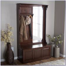 hall tree entryway hall tree with mirror coat hooks and storage bench