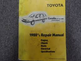 1988 1 2 toyota corolla all trac 4wd service shop repair manual