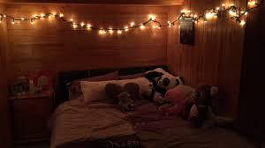 grunge indie christmas lights cozy winter bedroom