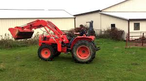 kubota model m4800 tractor for sale online auction youtube