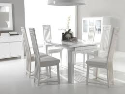 white painted dining table and chairs with design hd images 7962