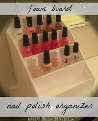 foam board nail polish organizer full tutorial with photos