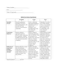 5 best images of printable science project rubric science fair