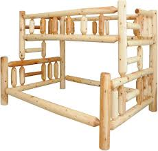 Rustic Pine Twin Over Full Bunk Bed - Pine bunk bed