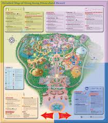 Las Vegas Map Of Hotels by Detailed Map Of Hong Kong Disneyland Resort Four Themed Lands