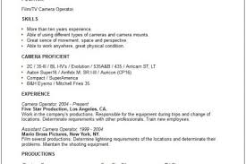 Forklift Operator Sample Resume by Camera Operator Resume Template Reentrycorps