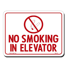 Elevator Symbol Floor Plan Lynch Sign 8 In X 6 In No Smoking In Elevator With Symbol Sign