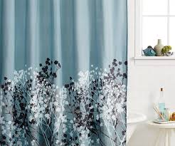 Gray Blue Curtains Designs Blue Gray Fabric Shower Curtains For Bathroom Design