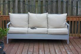 Ana White Outdoor Sofa DIY Projects - White outdoor sofa